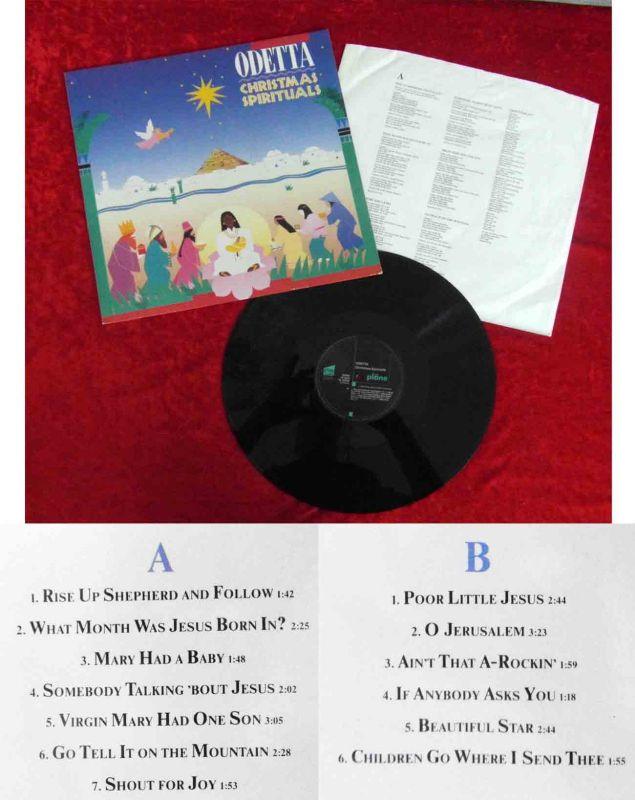 LP Odetta: Christmas Spirituals (Pläne 88 658) D 1988