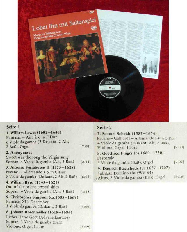 LP Lobet Ihn mit Saitenspiel - Musik zu Weihnachten (Carus 63.121) D 1986