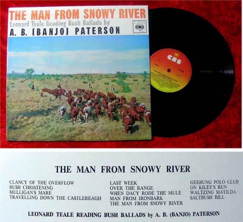 LP The Man from Snowy River Leonard Teale Reading Bush