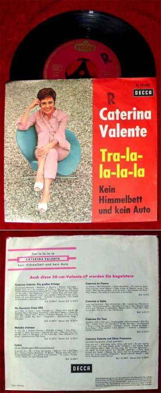 Single Caterina Valente: Tra-la-la-la-la (Decca 19 457) D