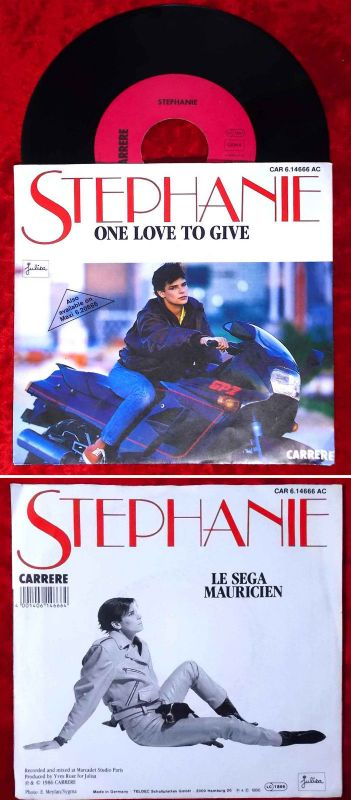 Single Stephanie: One Love to give (Carrere 614666 AC) D 1986