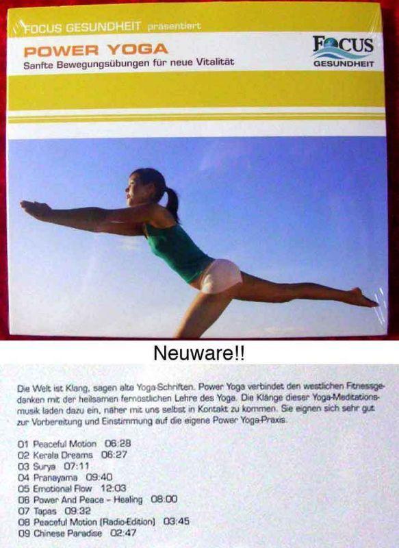 CD Power Yoga - sanfte Bewegungsübungen für neue Vitalität Focus Gesundheit 2006
