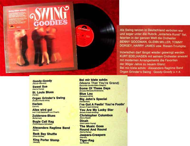 LP Kurt Edelhagen: Swing Goodies (Polydor 249 033) D 1966