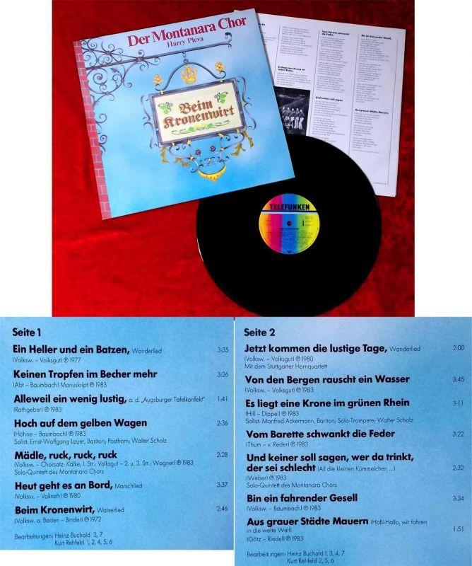 LP Montanara Chor: Beim Kronenwirt (Telefunken 625587) D
