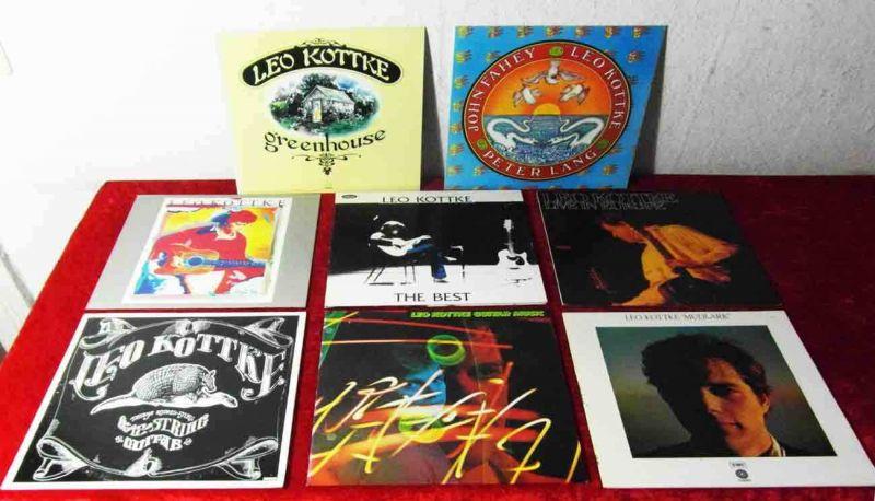 9 Langspielplatten  von LEO KOTTKE - Vinylsammlung -