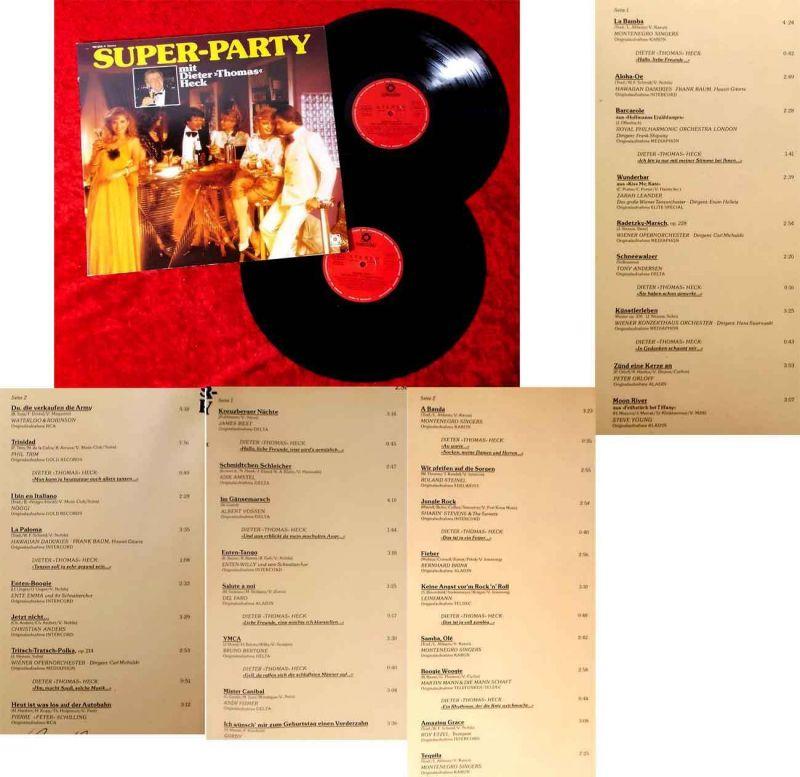2LP Super Party mit Dieter Thomas Heck (Sonocord 28 554-4) D 1984