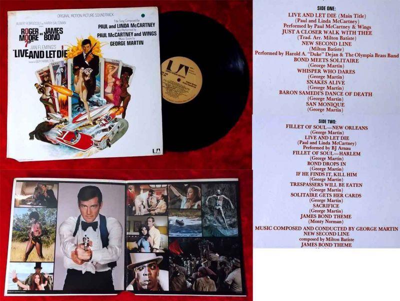 LP Live and Let Die - James Bond 007 - (United Artists LA 100-G) US 1972