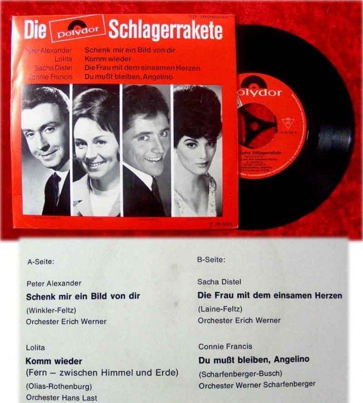 EP Die Polydor Schlagerrakete 1965 Peter Alexander Loli