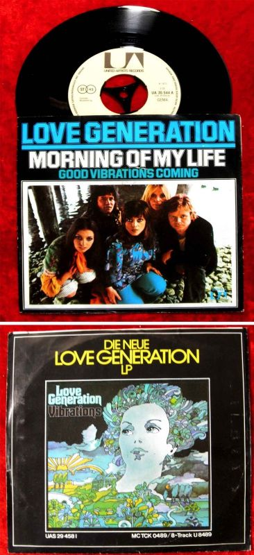Single Love Generation: Morning of my Life (United Artists 35 544) D 1973