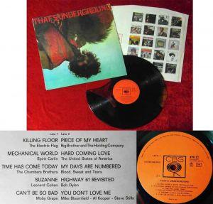 LP That´s Underground - Coloured Vinyl- (CBS XPR 23)  Italy 1969