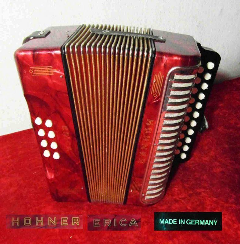 Knopfakkordeon HOHNER Erica - Made in Germany -