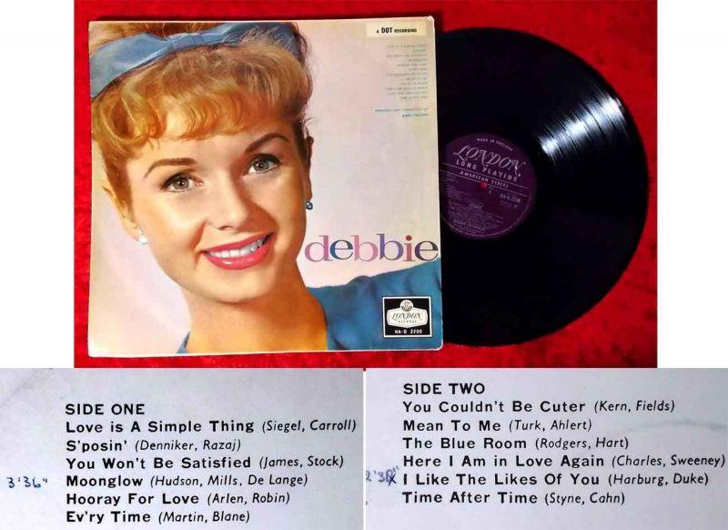 LP Debbie Reynolds: Debbie (London HA-D 2200) UK 1959