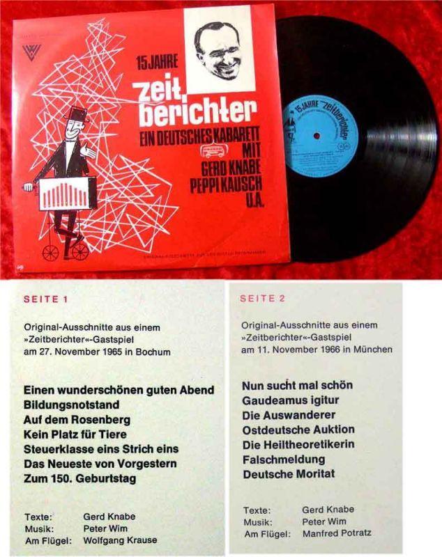 LP Die Zeitberichter - ein deutsches Kabarett