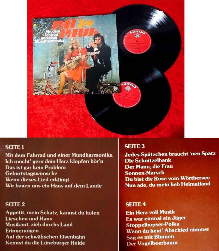 2LP Pat & Paul: Mit dem Fahrrad und einer Mundharmonika (Telefunken 628358 DF) D