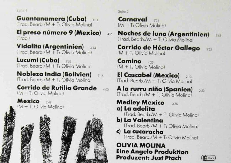 LP Olivia Molina: Viva (Columbia Crystal 066 CRY 45 889) D 1979 1