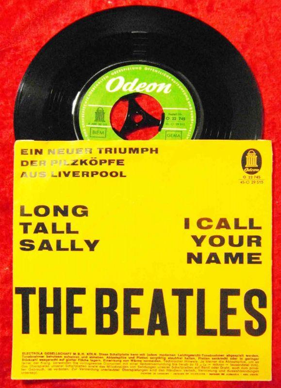 Single Beatles: Long Tall Sally / I Call your Name (Odeon O 22 745) D