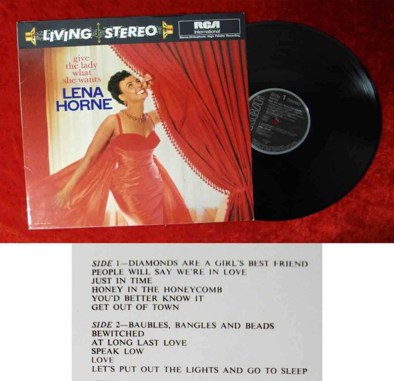 LP Lena Horne: Gave The Lady what she wants (RCA Living Stereo NL 89459) D