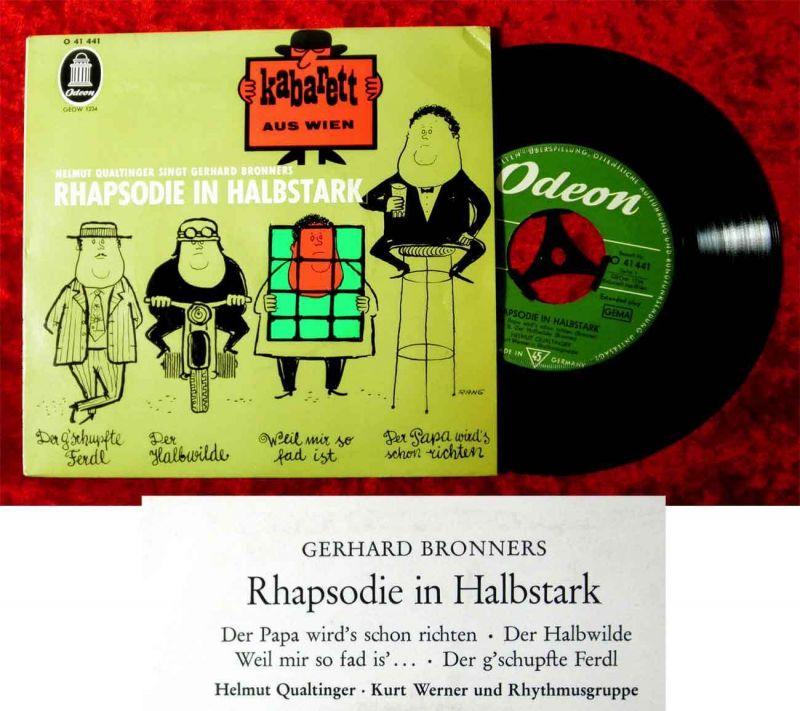 EP Helmut Qualtinger: Rhapsodie in Halbstark - Kabarett aus Wien (Odeon O 41441)