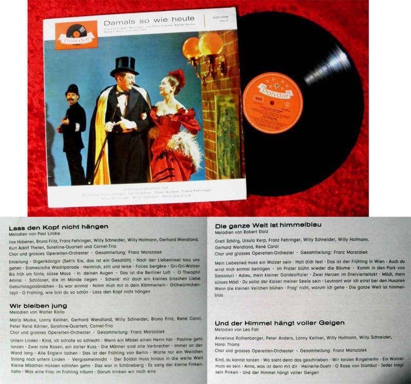 LP Damals so wie heute - 4 Komponistenbilder (Polydor 46 654 LPHM) D 1962