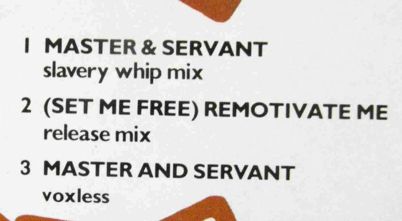 Maxi Depeche Mode: Master and Servant (Coloured Marbled Vinyl) D 1984 1
