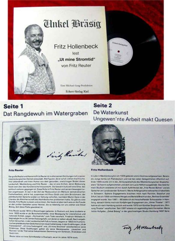 LP Fritz Hollenbeck liest Ut Mine Stromtid Fritz Reuter