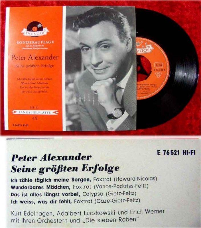 EP Peter Alexander Seine größten Erfolge