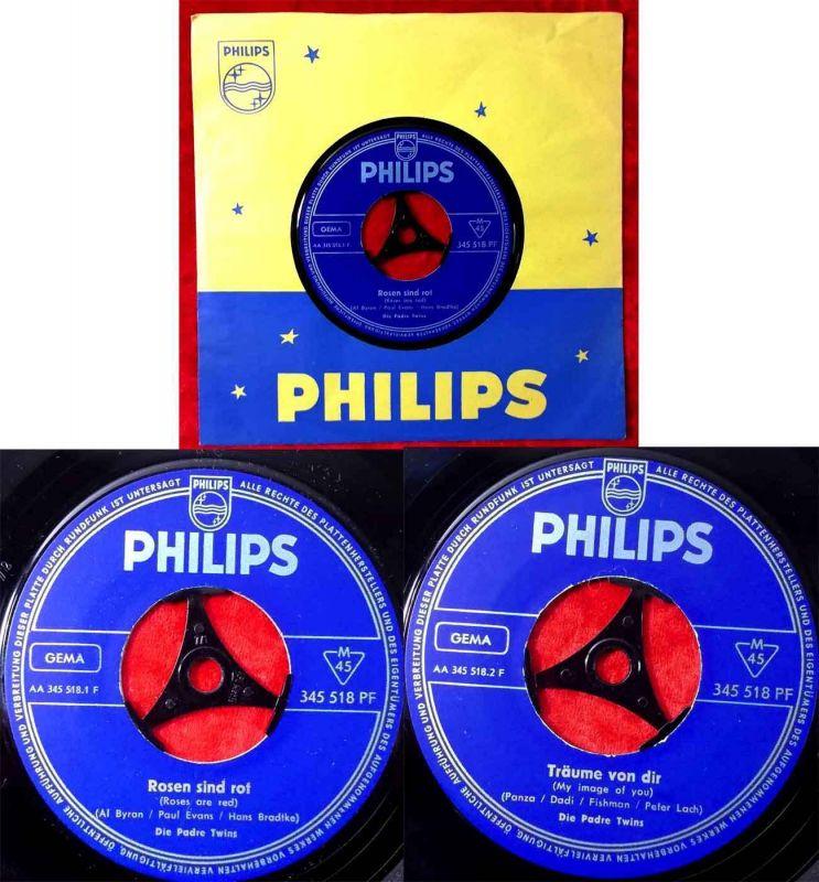 Single Padre Twins: Rosen sind rot (Philips 345 518 PF) D 1962 0