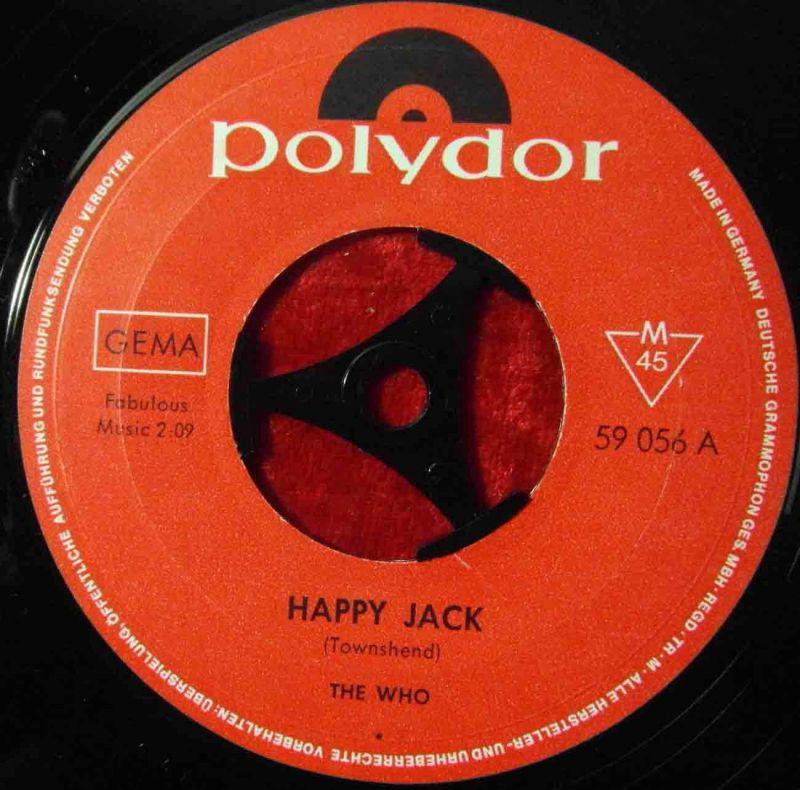 Single Who: Happy Jack (Polydor 59 056) D 1967 1