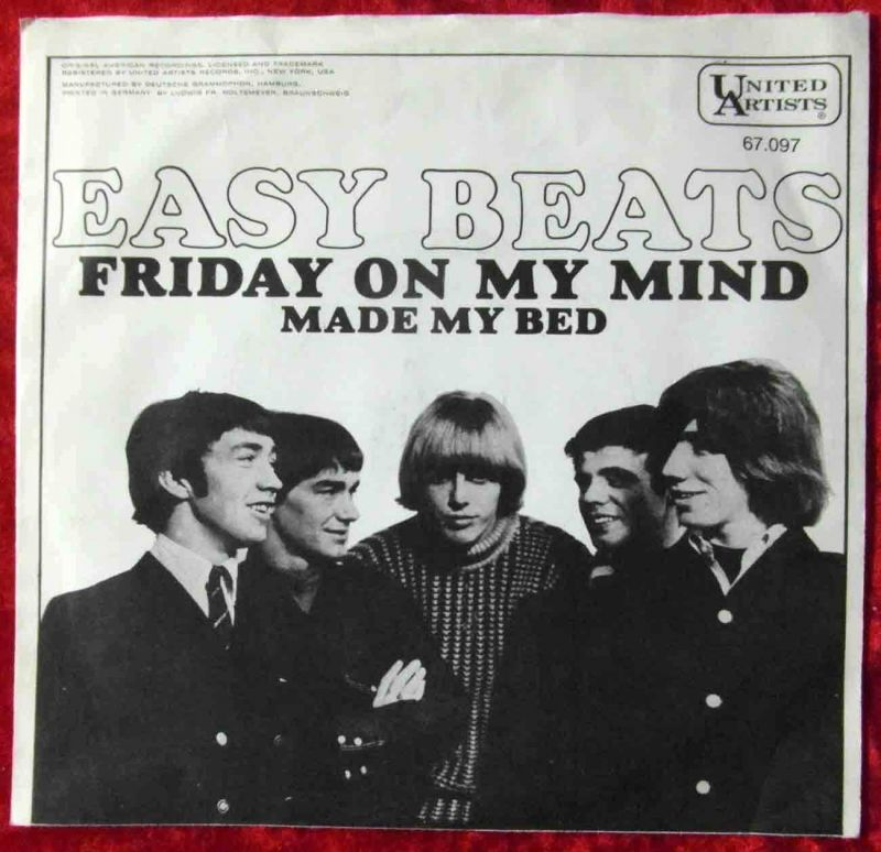 Single Easybeats: Friday On My Mind (United Artists 67 097) D 1967 1