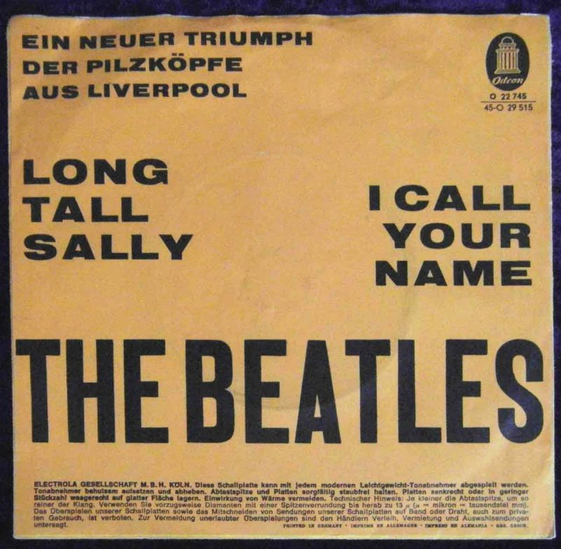 Single Beatles: Long Tall Sally (Odeon O 22 745) D - oranges Cover -