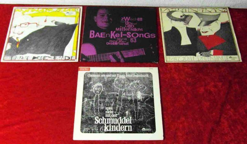 4 Langspielplatten FRANZ JOSEF DEGENHARDT - Vinylsammlung -