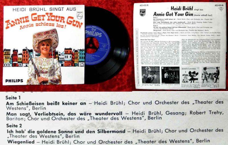EP Heidi Brühl singt aus Annie Get your Gun (Philips 423 473 PE) D