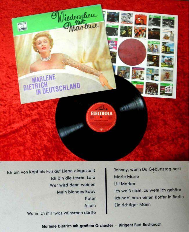 LP Marlene Dietrich: Wiedersehen mit Marlene (Electrola 83 220) D 1960
