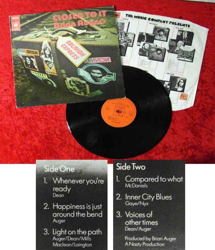 LP Brian Auger´s Oblivion Express: Closer To It (CBS S 65626) NL 1973