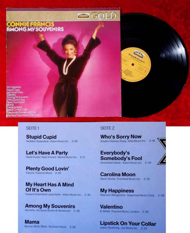 LP Connie Francis: Among my Souvenirs (Karussell 825 799-1) D