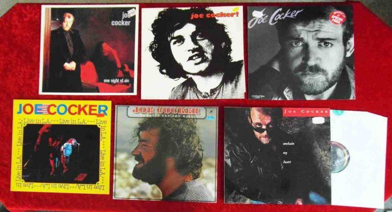 12 Langspielplatten JOE COCKER - Vinylsammlung -
