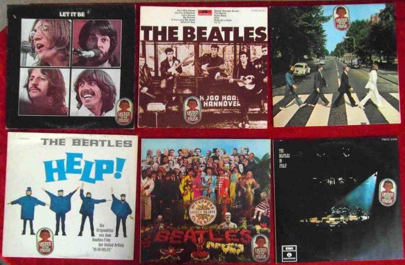 12  Langspielplatten  der BEATLES - Vinylsammlung - incl Sergeant Pepper´s...