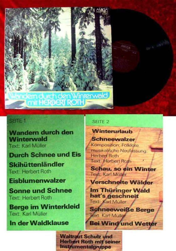LP Herbert Roth: Wandern durch den Winterwald (Amiga 845 130) DDR 1977