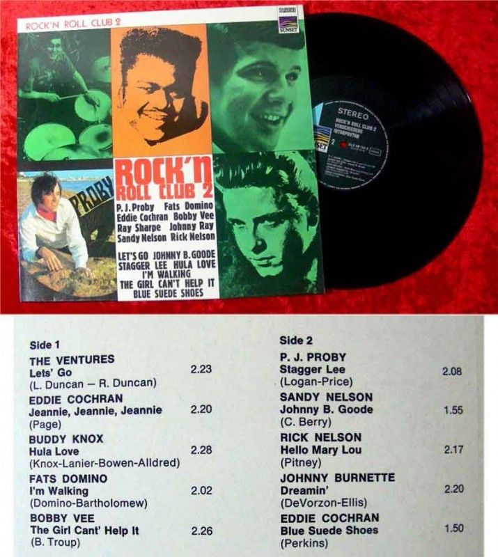 LP Rockn Roll Club 2 Eddie Cochran Fats Domino Bobby Ve
