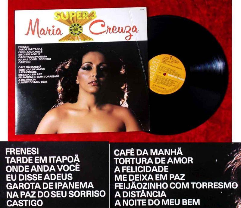 LP Maria Creuza: Super 3 Disco de Ouro (RCA 109.0108) Brasilien