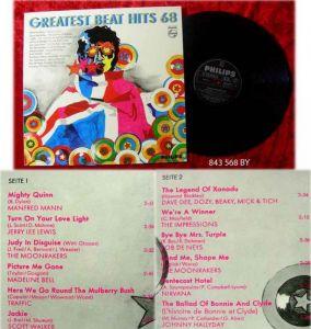 LP Greatest Beat Hits 68 Manfred Mann Traffic Johnny Ha