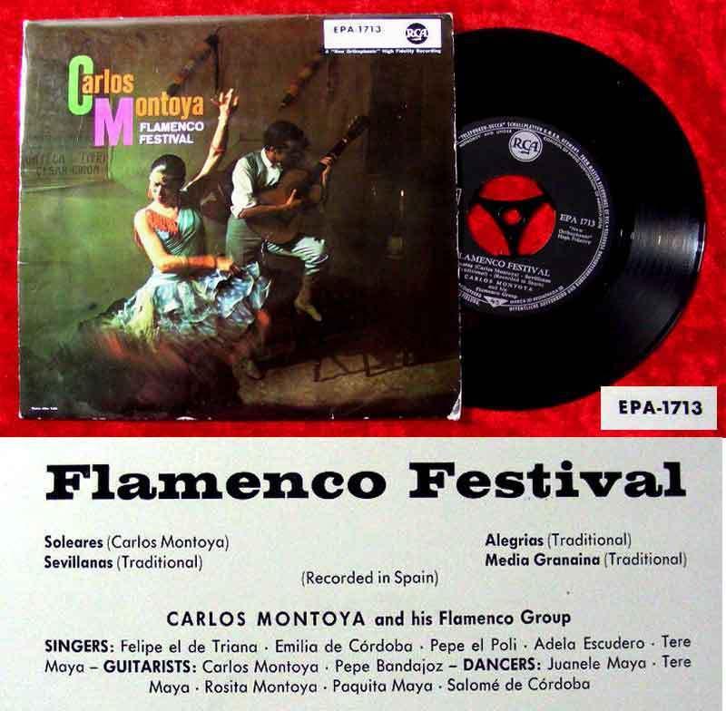 EP Carlos Montoya: Flamenco Festival (RCA EPA-1713) D 1958