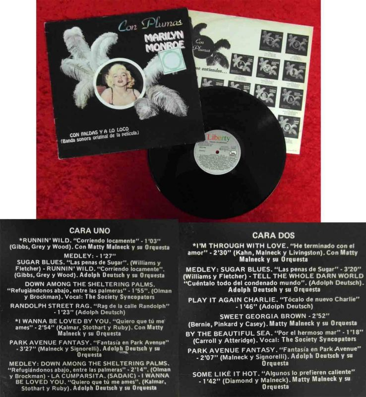 LP Marilyn Monroe: Con Plumas (Liberty 10C 054-083 227) Spanien 1982
