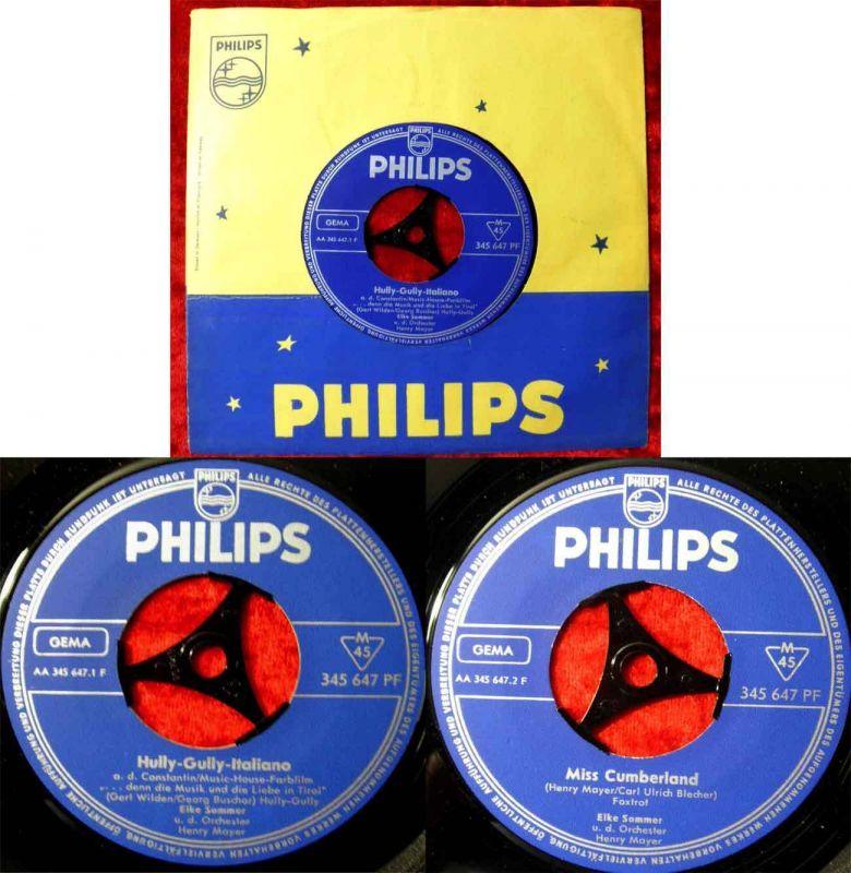 Single Elke Sommer: Hully Gully Italiano (Philips 345 647 PF) D
