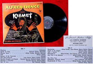 LP Alfred Drake: Kismet (Columbia OL 4850) US