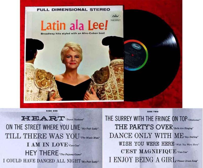 LP Peggy Lee: Latin ala Lee! (Capitol ST 1290) US