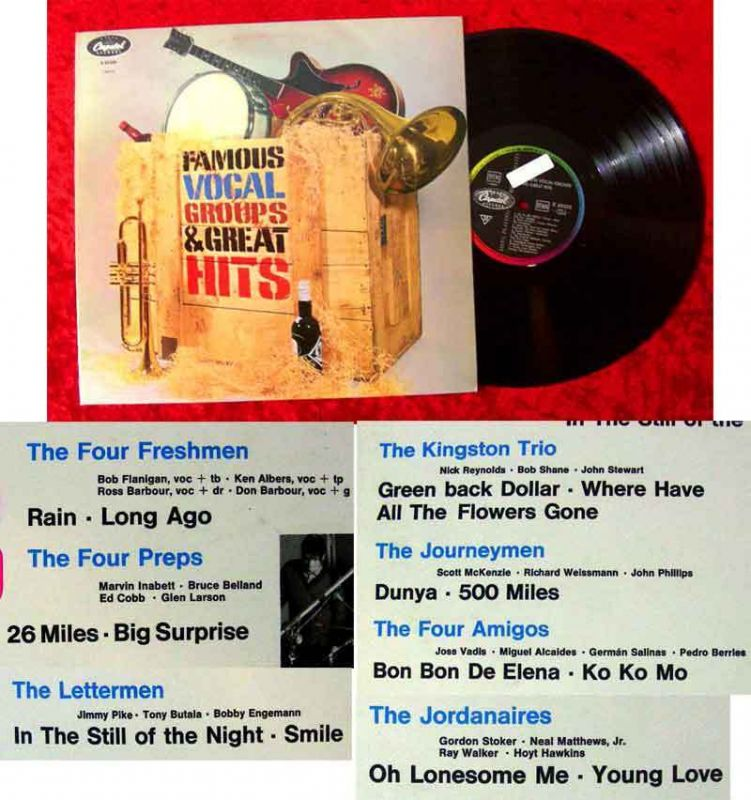 LP Famous Vocal Groups & Great Hits (Capitol 83 525) Kingston Trio Jordanaires