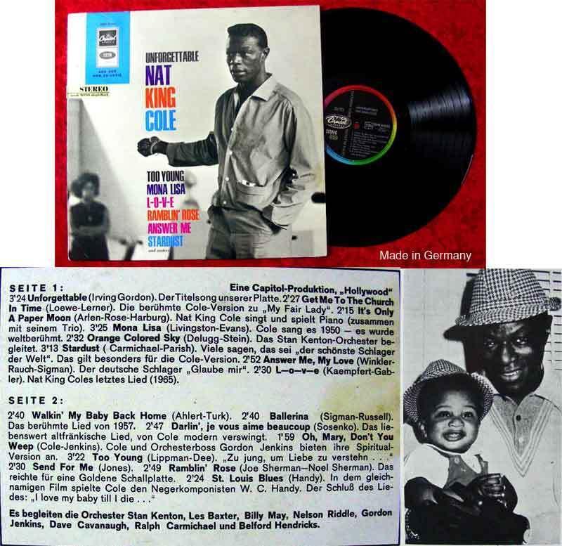 LP Nat King Cole: Unforgettable (Capitol SMK 83 886)
