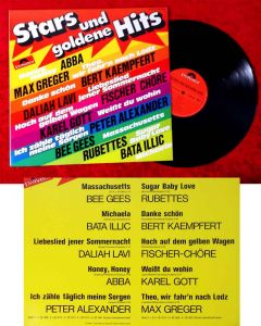 LP Stars und goldene Hits (Polydor 2437 297) D 1974 feat Abba Bee Gees...