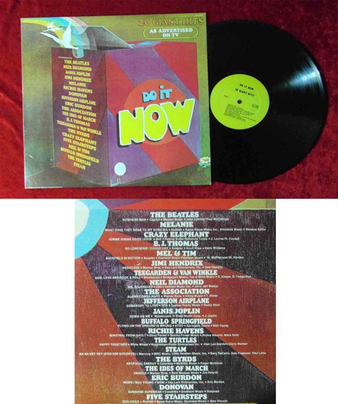 LP Do It Now 20 Giant Hit feat The Beatles Byrds Jimi Hendrix (Ronco LP1001) US